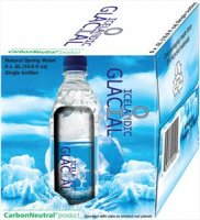 Icelandic Glacial Natural Spring Water 24Pack Box 16.9oz Bottles