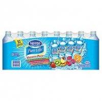 Nestle Pure Life Splash Flavored Water Variety Pack 32 Pack Case of 16.9oz BTLS