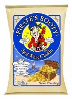 Pirate's Booty All Natural Puffed Rice & Corn Snack Aged White Cheddar .5oz Snack Bag 1CT product image