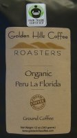 Golden Hills Coffee Roasters Organic Peru La Florida (Ground) 12oz Bag product image