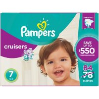 Pampers Custom Fit Cruisers Size 7 (41+lbs) 78CT Box
