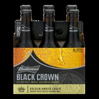 Budweiser Black Crown Beer 6CT 12oz Bottles *ID Required*