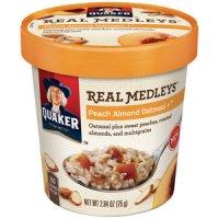 Quaker Real Medleys Peach Almond Oatmeal 2.64oz Cup