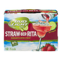 Bud Light Lime Straw-Ber-Rita Beer 12CT 8oz Cans *ID Required*