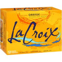 La Croix Natural Pure Sparkling Water Orange 12PK of 12oz Cans