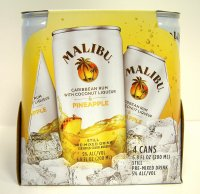 Malibu Cocktail Can Rum & Pineapple 4PK 6.8oz Cans *ID Required*