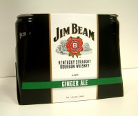 Jim Beam & Ginger Ale Premixed Can 6PK 355ml Cans *ID Required*