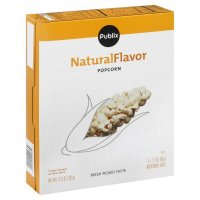 Store Brand Natural Flavor Microwave Popcorn 6 Pack of 2.3oz Bags