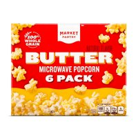Store Brand Butter Flavor Microwave Popcorn 6 Pack of 2.3oz Bags