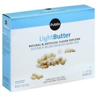 Store Brand Light Butter Microwave Popcorn 6 Pack of 2.1oz Bags