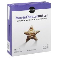 Store Brand Movie Theater Butter Microwave Popcorn 6 Pack of 2.4oz Bags