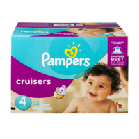 Pampers Cruisers Diapers Size 4 (22-37LB) 74CT PKG