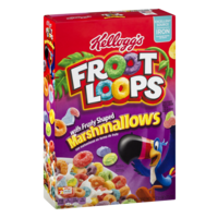 Kellogg's Froot Loops with Fruity Shaped Marshmallows 12.6 oz Box product image