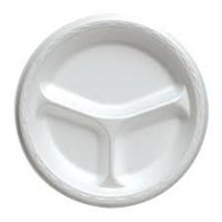 Store Brand Foam Compartment Plates 10.25 inch 24CT
