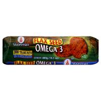 Voortman Dark Chocolate Omega 3 Flax Seed Cookies 12.3oz PKG