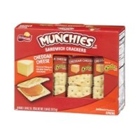 Munchies Cheddar Cheese on Toast Sandwich Crackers 1.38oz PKG 8ct Box