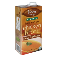 Pacific Natural Foods Organic Low Sodium Chicken Broth  32oz CTN