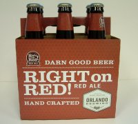 Orlando Brewing Right on Red! Red Ale Beer 6CT 12oz Bottles *ID Required*
