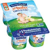 Stonyfield Farm YoBaby Yogurt Vanilla 6CT PKG 24oz