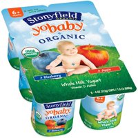 Stonyfield Farm YoBaby Yogurt Blueberry/Apple 6CT PKG 24oz