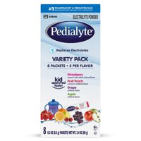 Pedialyte Oral Electrolyte Powder 8Pk Variety 2.4oz Box