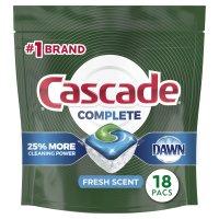 Cascade Auto Dish Detergent with Dawn Lemon Scent Actionpacs 20CT