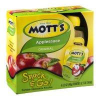 Mott's Snack & Go Original Applesauce 3.2 oz Pouches 4 Count PKG