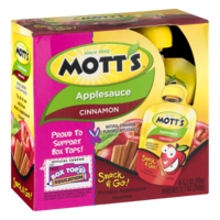 Mott's Snack & Go Cinnamon Applesauce 3.2 oz Pouches 4 Count PKG product image