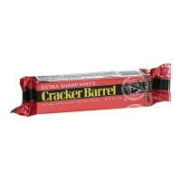 Cracker Barrel Cheese Natural Cheddar Extra Sharp White  8oz Bar