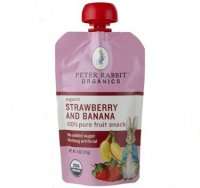 Peter Rabbit Organics Strawberry & Banana Fruit Snack 4oz Pouch
