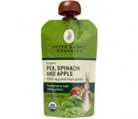 Peter Rabbit Organics Pea, Spinach & Apple 100% Veg & Fruit Puree 4.4oz Pouch