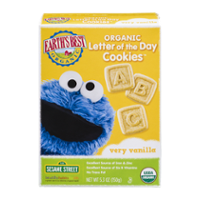 Earth's Best Organic Letter of the Day Cookies Very Vanilla 5.3oz Box