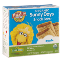 Earth's Best Sunny Days Apple Snack Bars 8CT Box