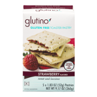 Glutino Gluten Free Toaster Pastries Strawberry Flavored 5CT Box