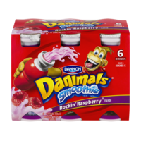 Dannon Danimals Drinkable Yogurt Rockin' Raspberry  6CT of 3.1oz BTLS