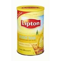 Lipton Natural Lemon Sugar Sweetened Iced Tea Mix Makes 28QTS Can