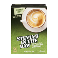 Stevia In The Raw 100% Natural Zero Calorie Sweetener Packets 50CT Box product image