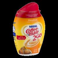 Coffee-mate 2Go Hazelnut Triple Strength Coffee Creamer 3oz BTL product image