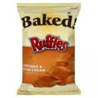 Ruffles Baked Potato Crisps Cheddar & Sour Cream 6.25oz Bag
