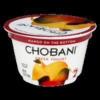 Chobani 2% Greek Yogurt Mango On The Bottom 5.3oz Cup product image