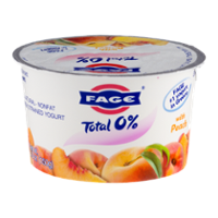 Fage Total 0% Nonfat Greek Strained Yogurt With Peach 5.3oz Cup product image