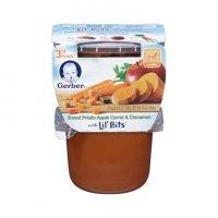Gerber 3rd Foods Sweet Potato Apple Carrot & Cinnamaon Lil Bits 10oz 2PK