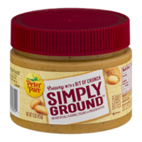 Peter Pan Simply Ground Creamy Peanut Butter 15oz Jar product image