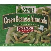Green Giant Green Beans & Almonds No Sauce 7.5oz. PKG
