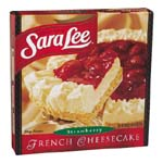 Sara Lee Cheesecake French Strawberry 26oz. PKG