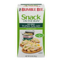 Bumble Bee Snack on the Run  Fat Free Tuna Salad with Wheat Crackers 3.5 oz. PKG