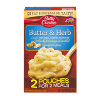 Betty Crocker Potatoes Mashed Butter & Herb 6.6oz Box