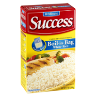 Success Boil-In-Bag Rice White Enriched Long Grain 3.5oz EA 4CT