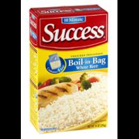Success Boil-In-Bag Rice White Enriched Long Grain 3.5oz EA 4CT