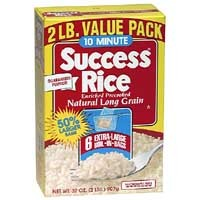 Success Boil-In-Bag Rice White Enriched Long Grain 5.3oz EA 6CT